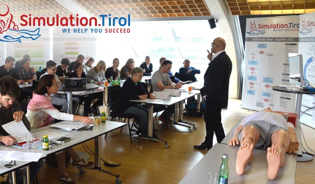Gute Zusammenarbeit mit der Tiroler Ärztekammer beim Notarztausbildungskurs im Mai 2017 – Tag 1:
