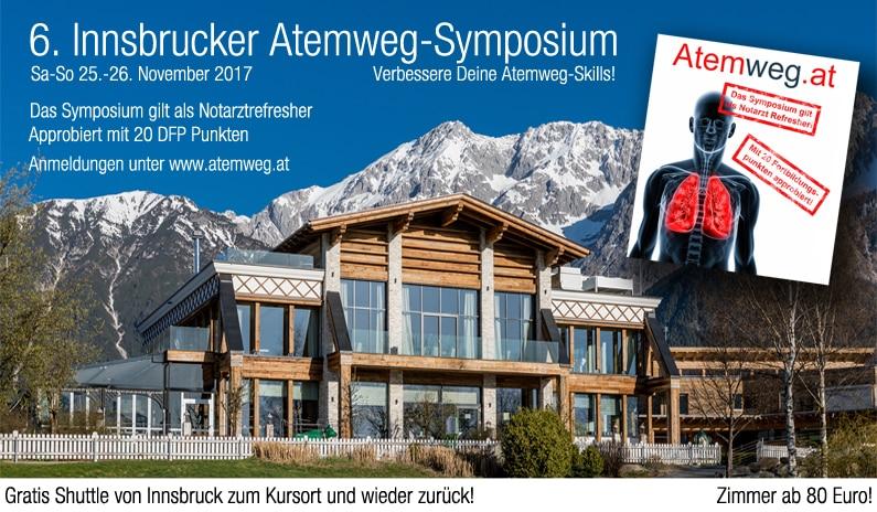 6. Innsbrucker Atemweg-Symposium am 25.-26. November