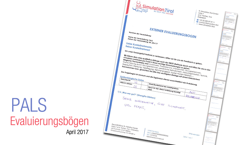 Evaluierungsbögen PALS Kurs April 2017