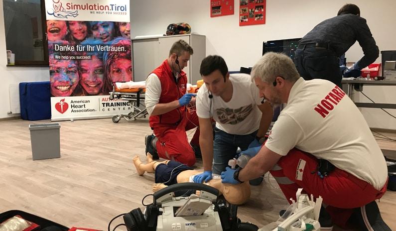 Simulationstraining mit dem Roten Kreuz Mayrhofen & Schwaz + Interview