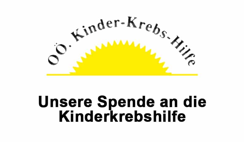 Unsere Spende an die OÖ Kinderkrebshilfe
