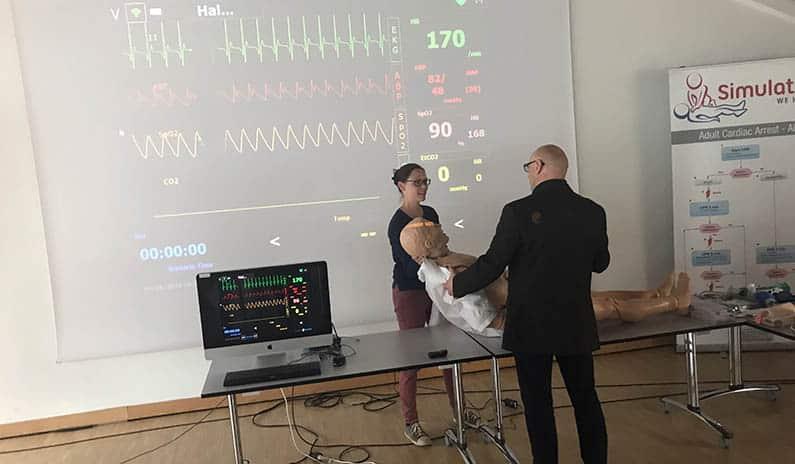 Fotos vom Notarzt-Ausbildungskurs zusammen mit der Tiroler Ärztekammer