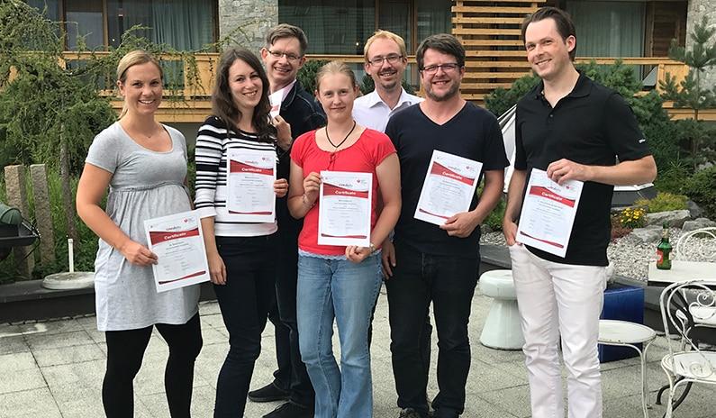 Fotos und Evaluierungen vom letzten ACLS Kurs aus Tirol
