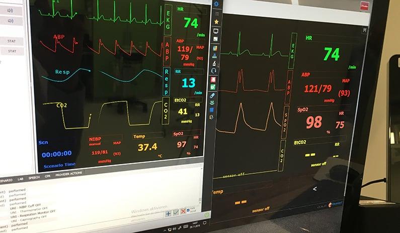 ekg ueberwachen simulator