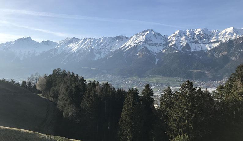 Panorama Berglandschaft Hall in Tirol