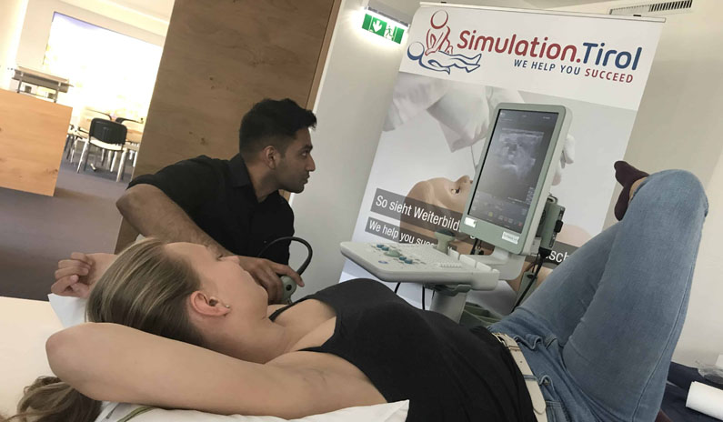 Simulation Tirol Ultraschall Training