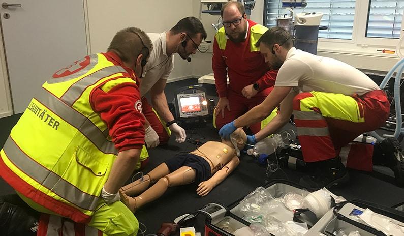Geschlossenes Notfall-Training für den Samariterbund Tirol