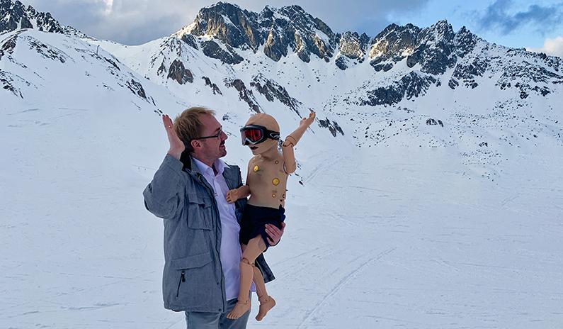 Notfalltrainings auch im Schnee auf 2500 m Höhe möglich