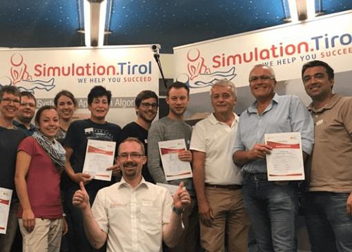 abschlussfoto pals kurs simulation tirol